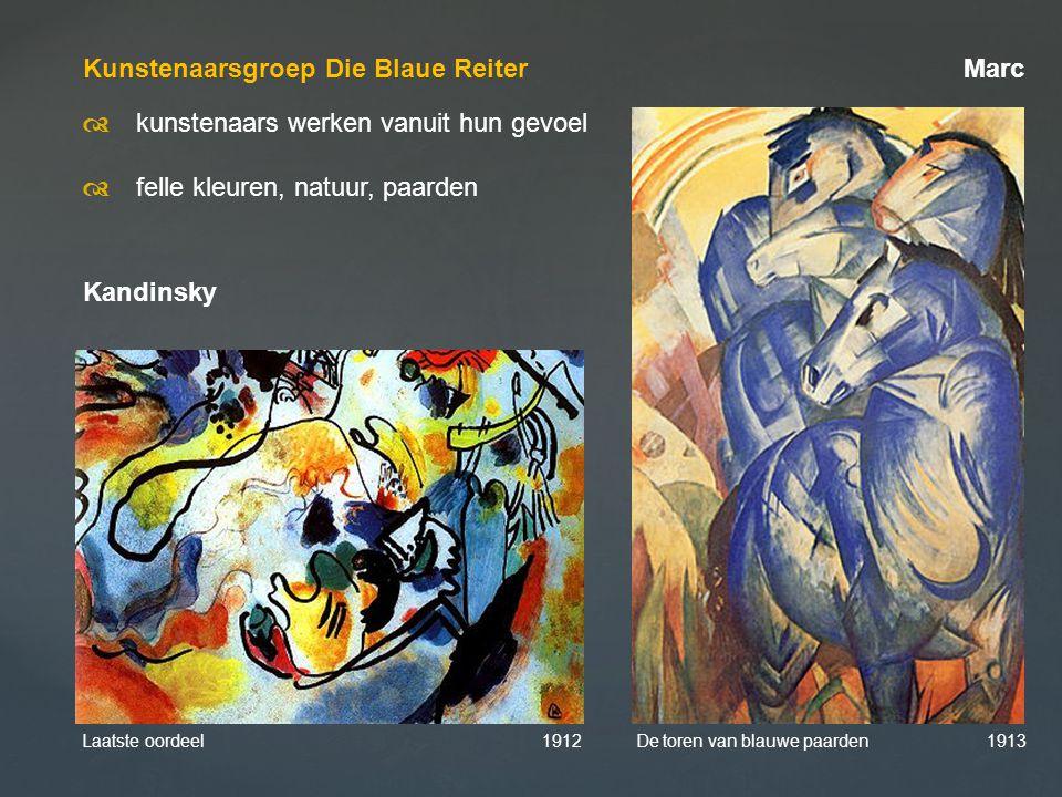 Kunstenaarsgroep Die Blaue Reiter Marc