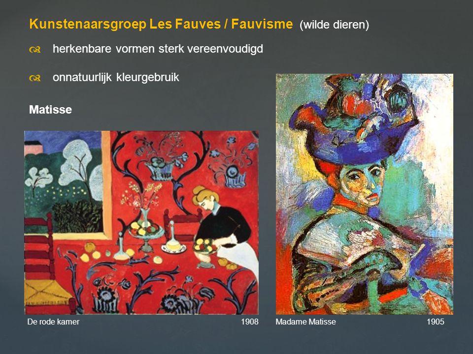 Kunstenaarsgroep Les Fauves / Fauvisme (wilde dieren)