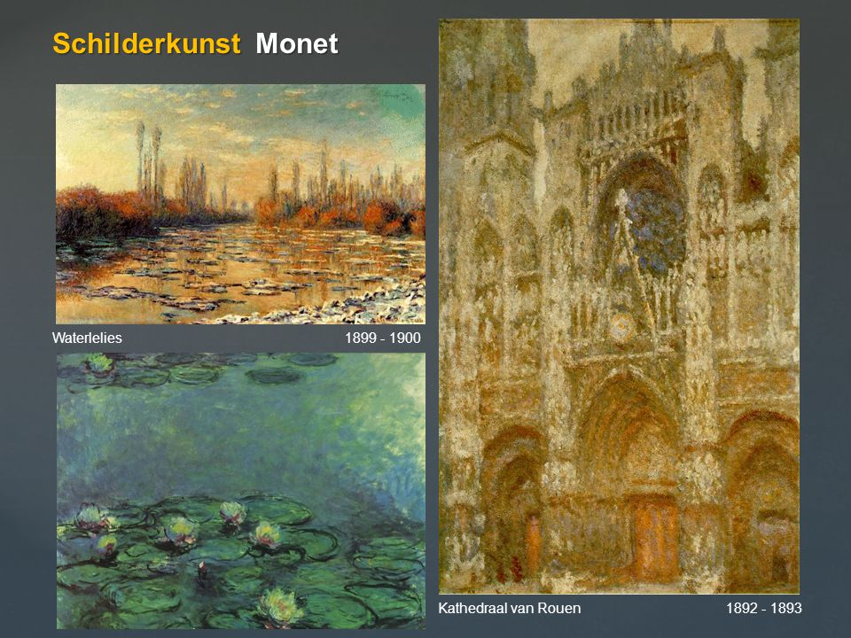 Schilderkunst Monet Waterlelies 1899 - 1900