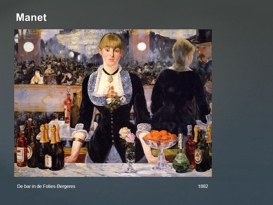 Manet De bar in de Folies-Bergeres 1882.