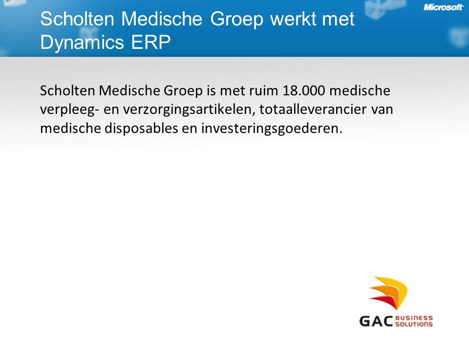 Scholten Medische Groep werkt met Dynamics ERP