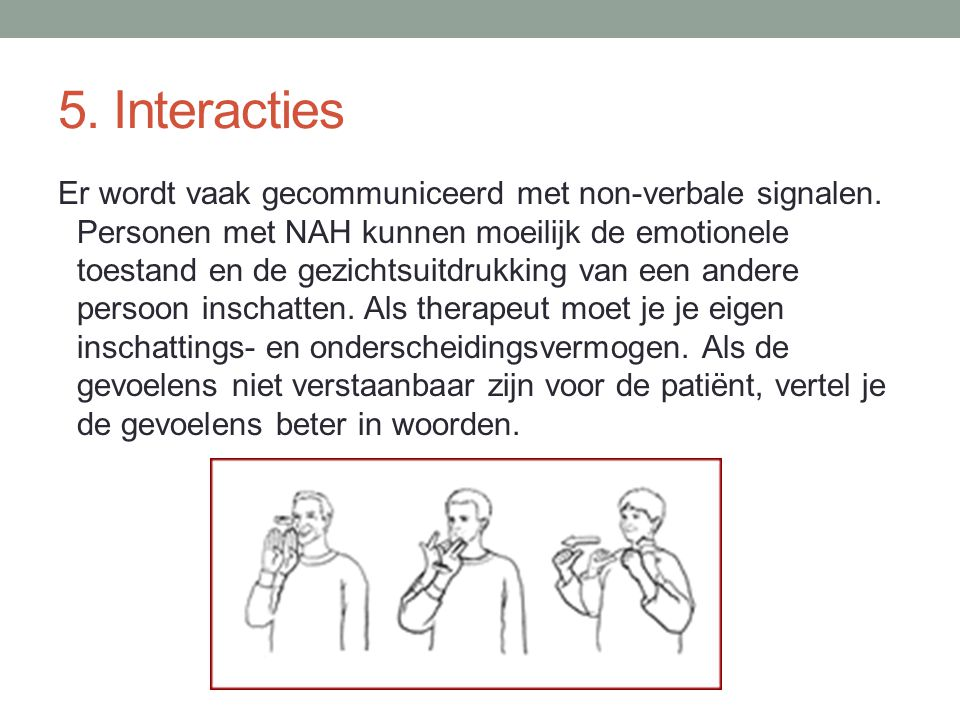 5. Interacties