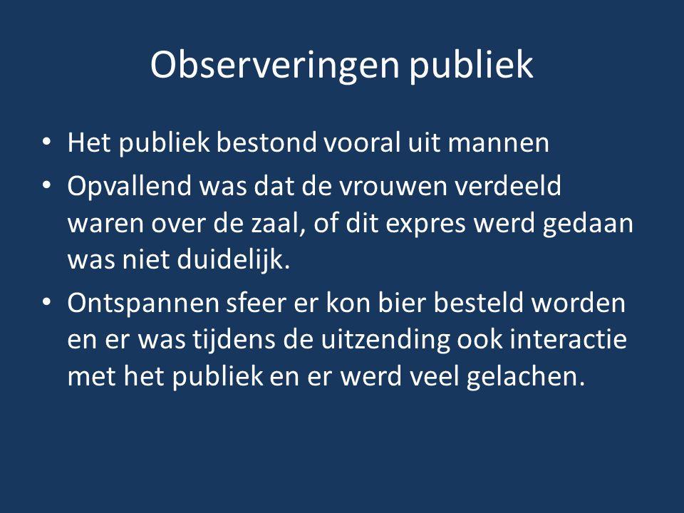 Observeringen publiek