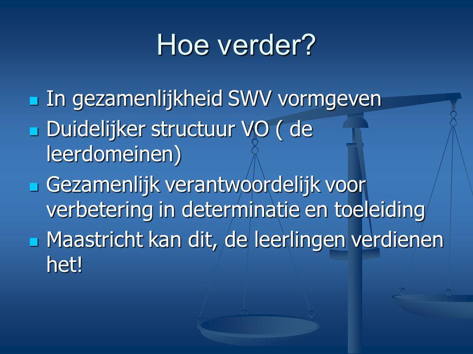 Hoe verder In gezamenlijkheid SWV vormgeven
