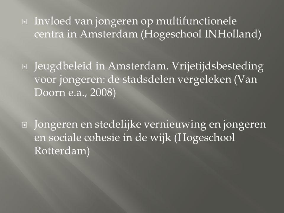 Invloed van jongeren op multifunctionele centra in Amsterdam (Hogeschool INHolland)
