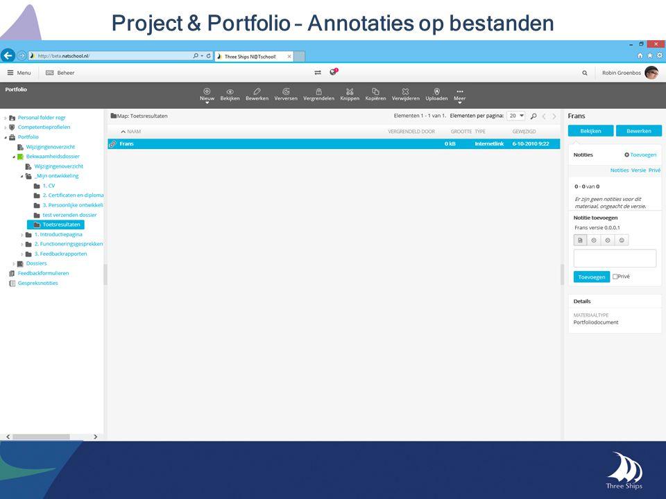 Project & Portfolio – Annotaties op bestanden
