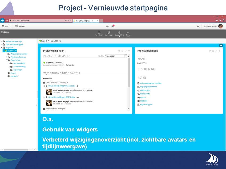 Project – Vernieuwde startpagina