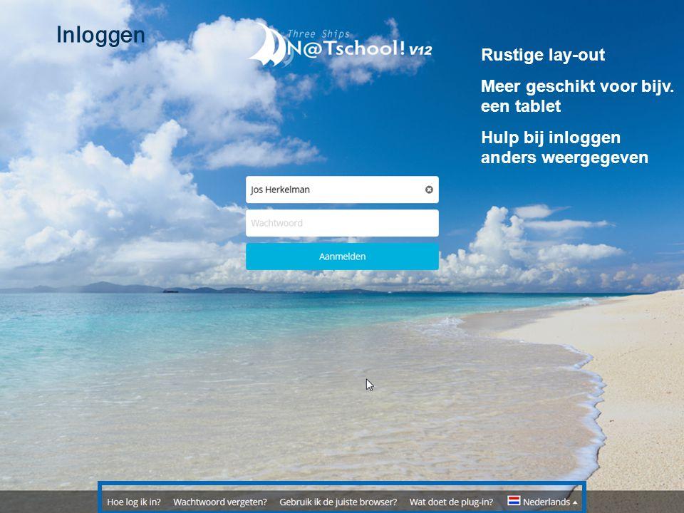 Inloggen Rustige lay-out Meer geschikt voor bijv. een tablet