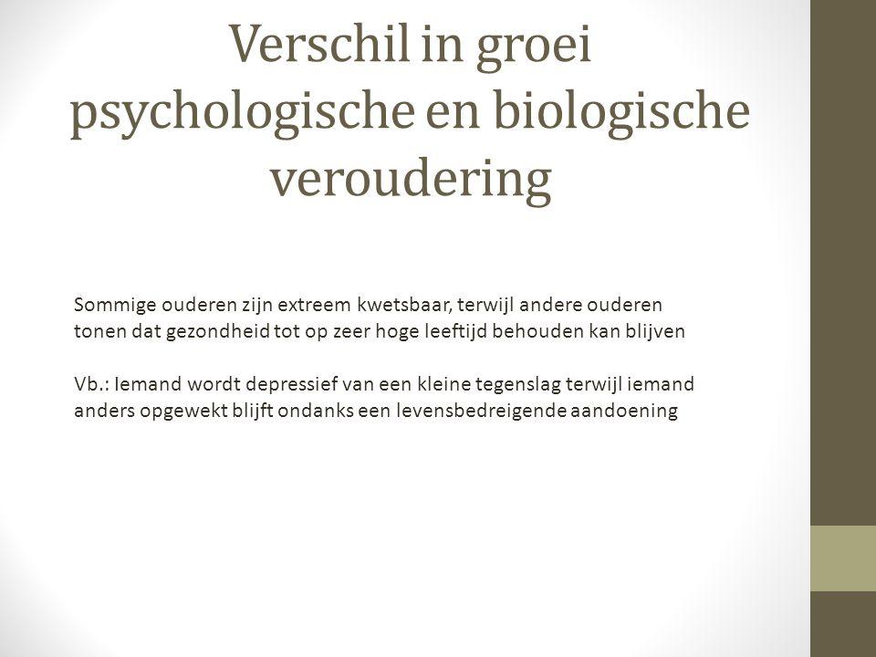 Verschil in groei psychologische en biologische veroudering