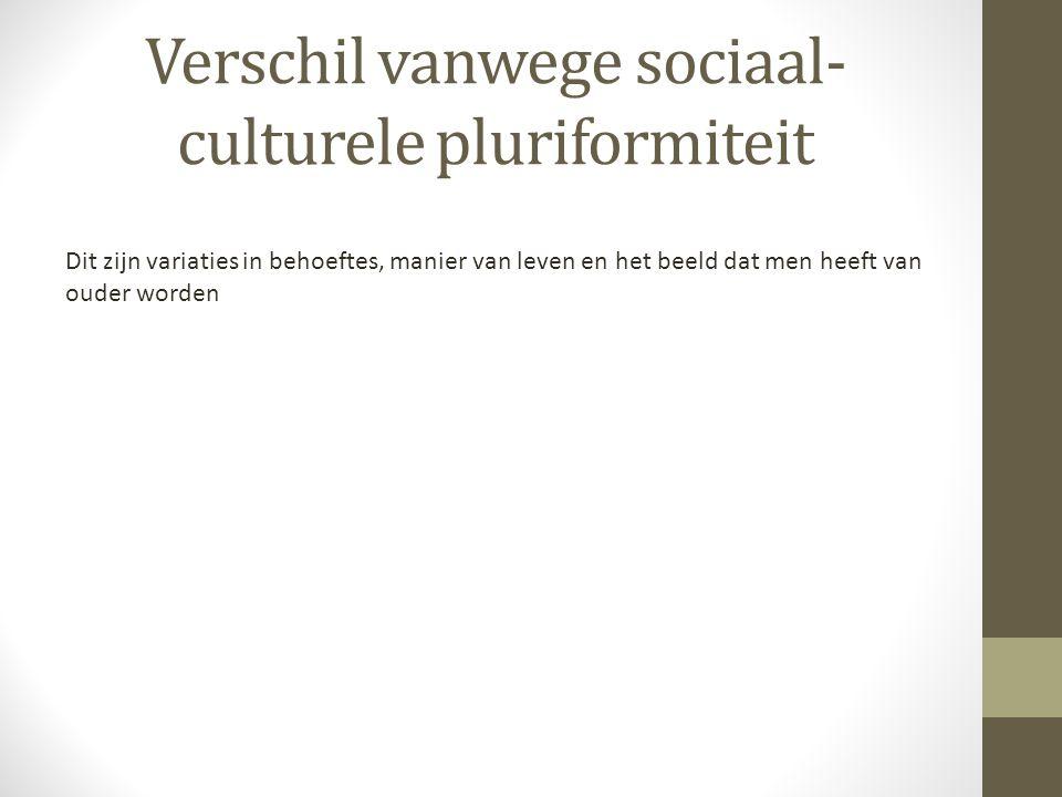 Verschil vanwege sociaal-culturele pluriformiteit