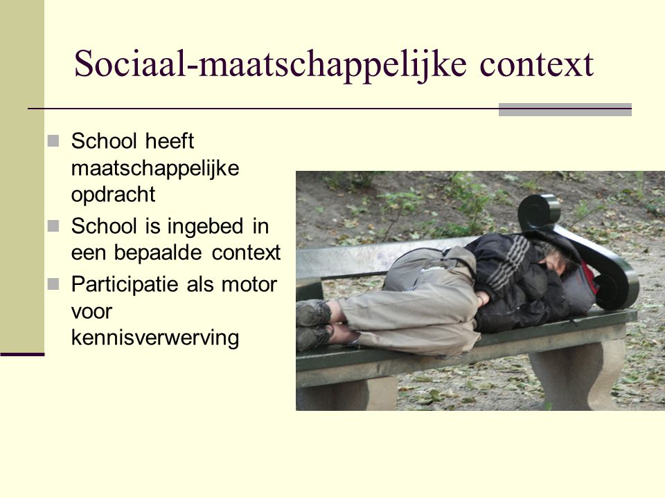 Sociaal-maatschappelijke context