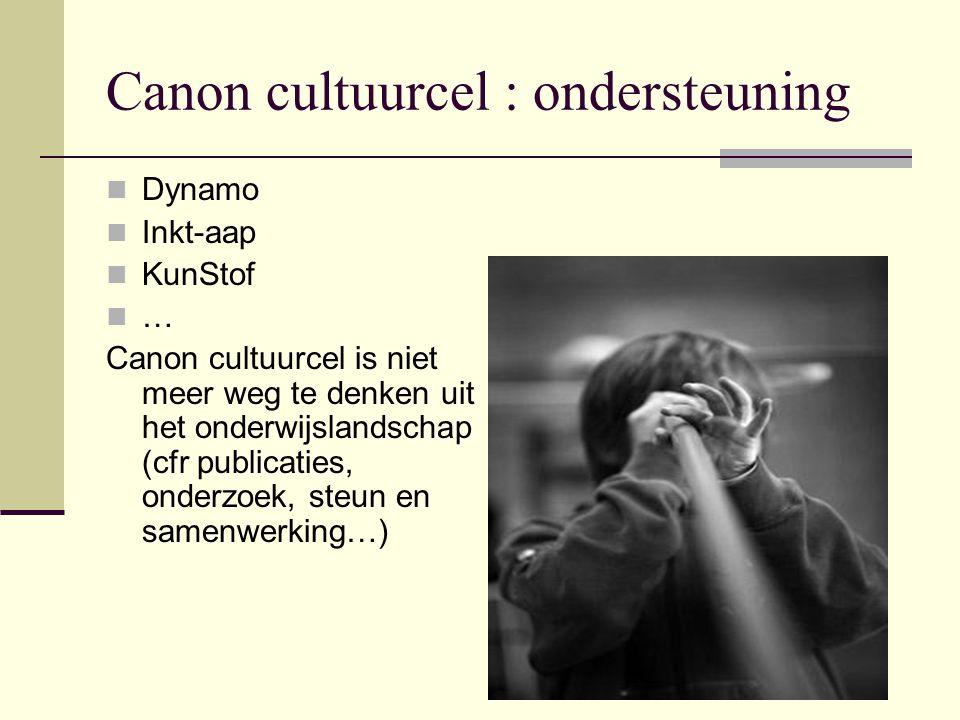 Canon cultuurcel : ondersteuning