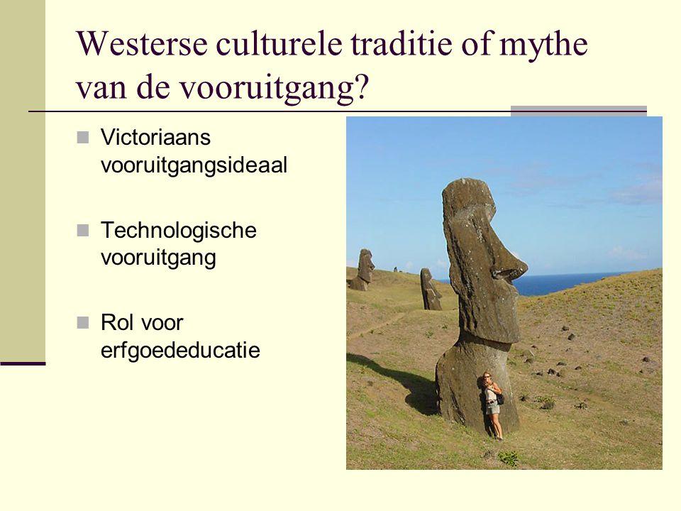 Westerse culturele traditie of mythe van de vooruitgang