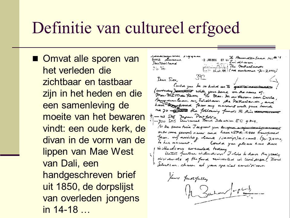 Definitie van cultureel erfgoed