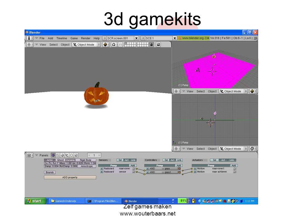 3d gamekits Zelf games maken www.wouterbaars.net