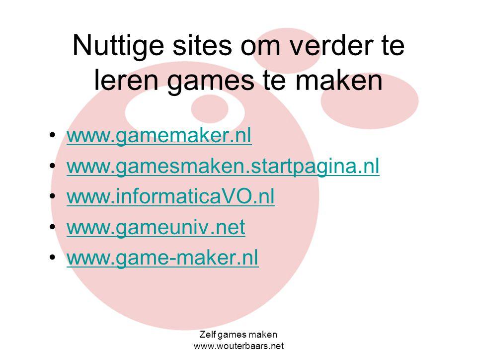 Nuttige sites om verder te leren games te maken