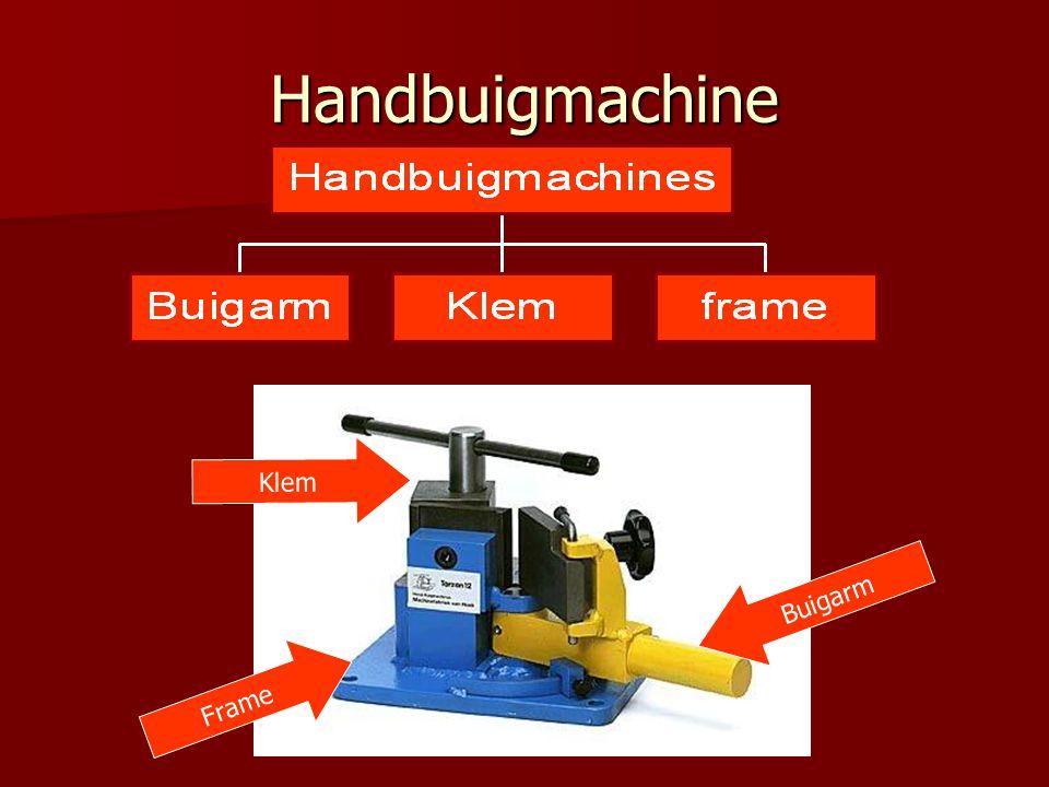 Handbuigmachine Klem Buigarm Frame
