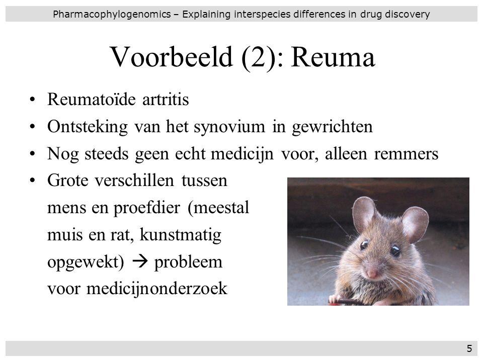 Voorbeeld (2): Reuma Reumatoïde artritis