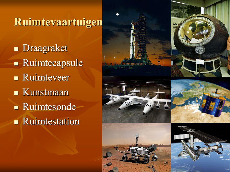 Ruimtevaartuigen Draagraket Ruimtecapsule Ruimteveer Kunstmaan