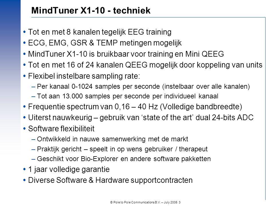 MindTuner X1-10 - techniek