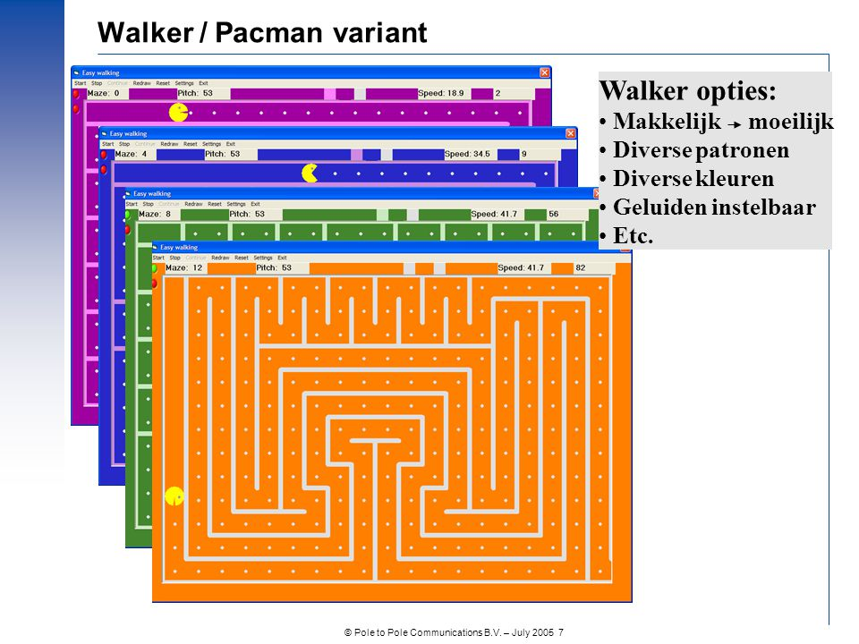 Walker / Pacman variant