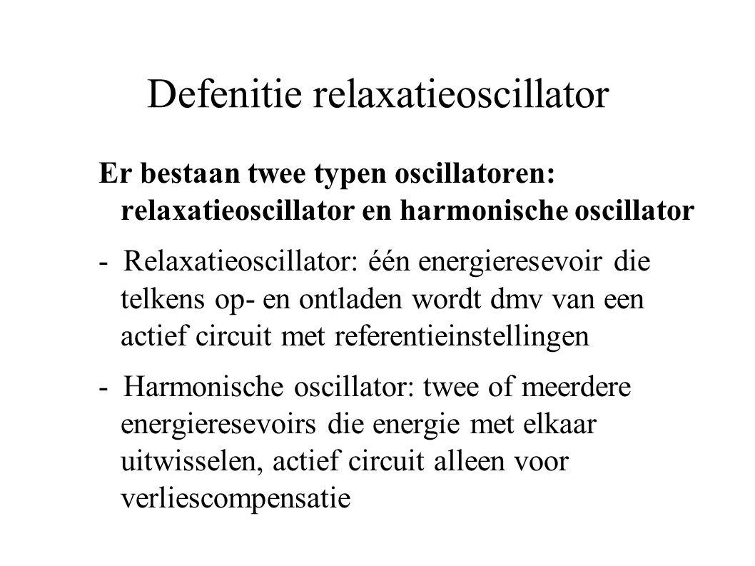 Defenitie relaxatieoscillator
