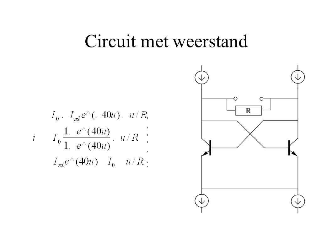 Circuit met weerstand