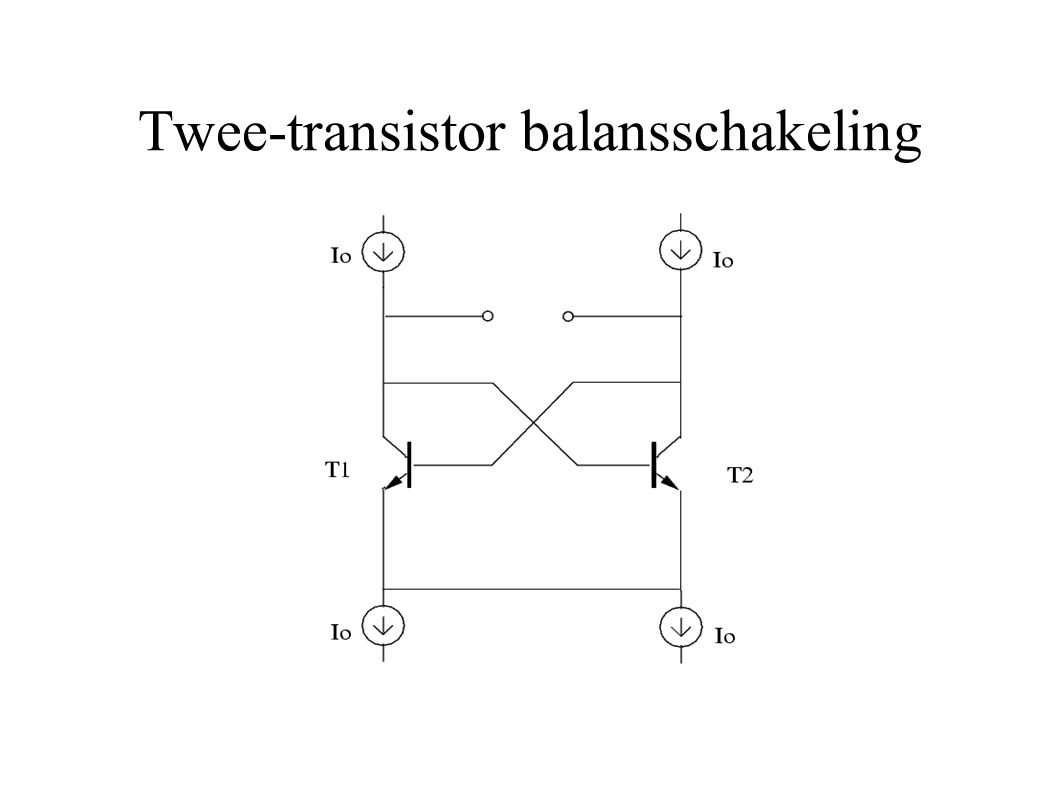 Twee-transistor balansschakeling