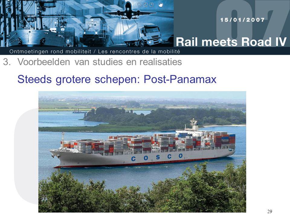 Steeds grotere schepen: Post-Panamax