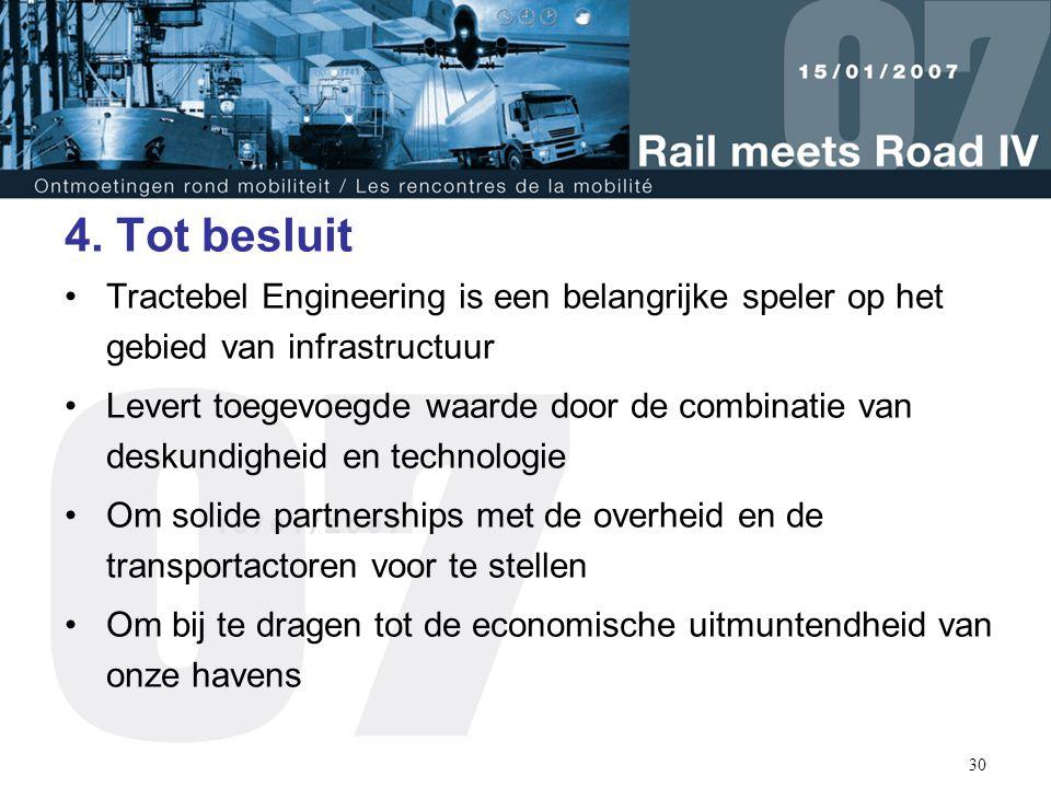 4. Tot besluit Tractebel Engineering is een belangrijke speler op het gebied van infrastructuur.