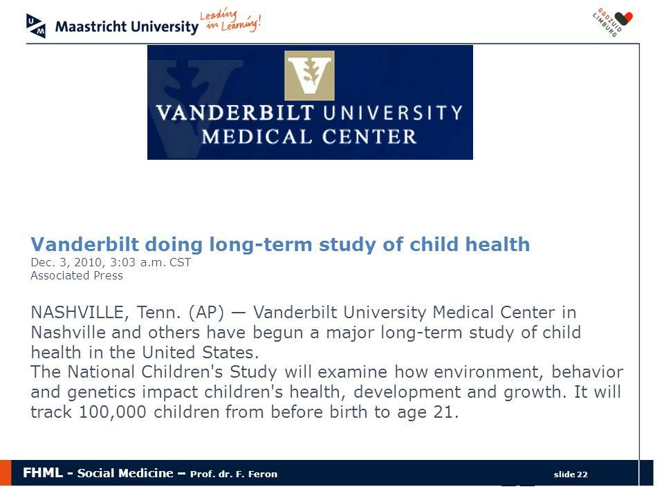 Vanderbilt doing long-term study of child health