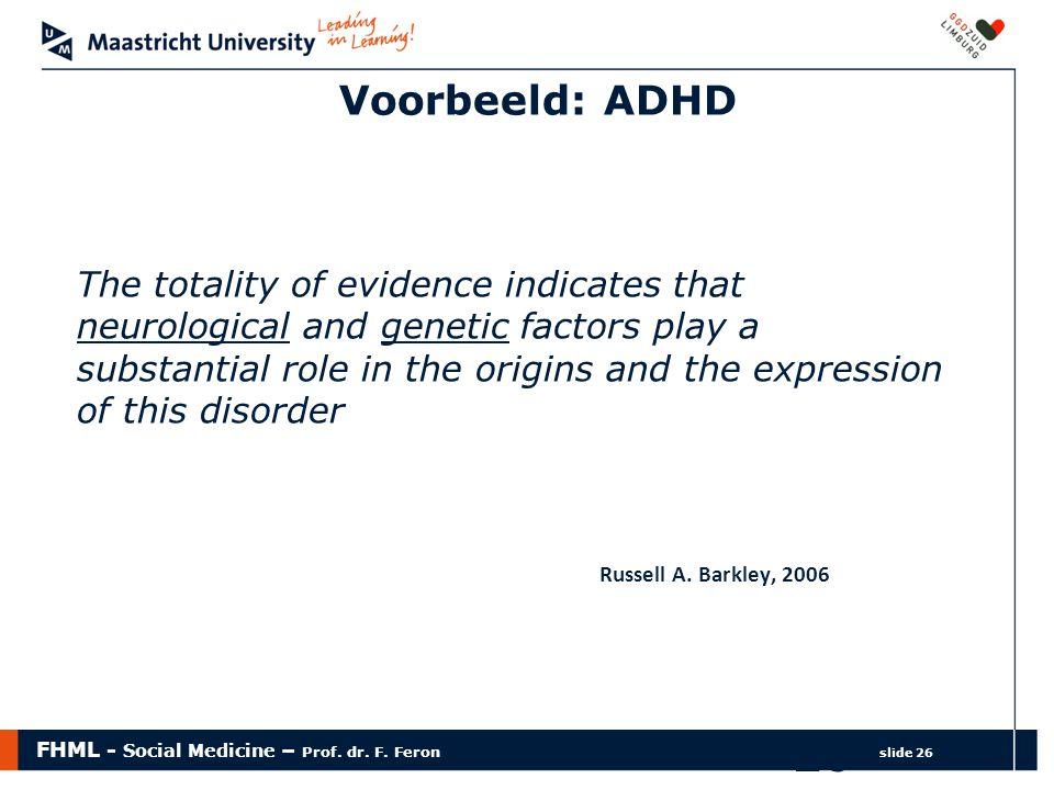 Voorbeeld: ADHD
