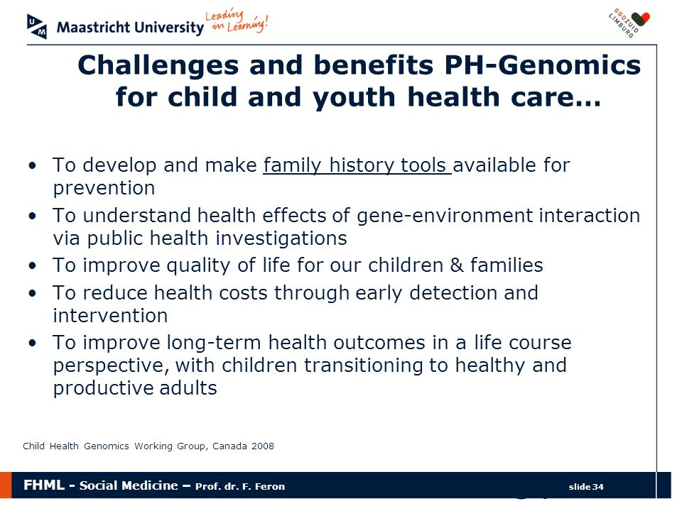 Challenges and benefits PH-Genomics for child and youth health care…