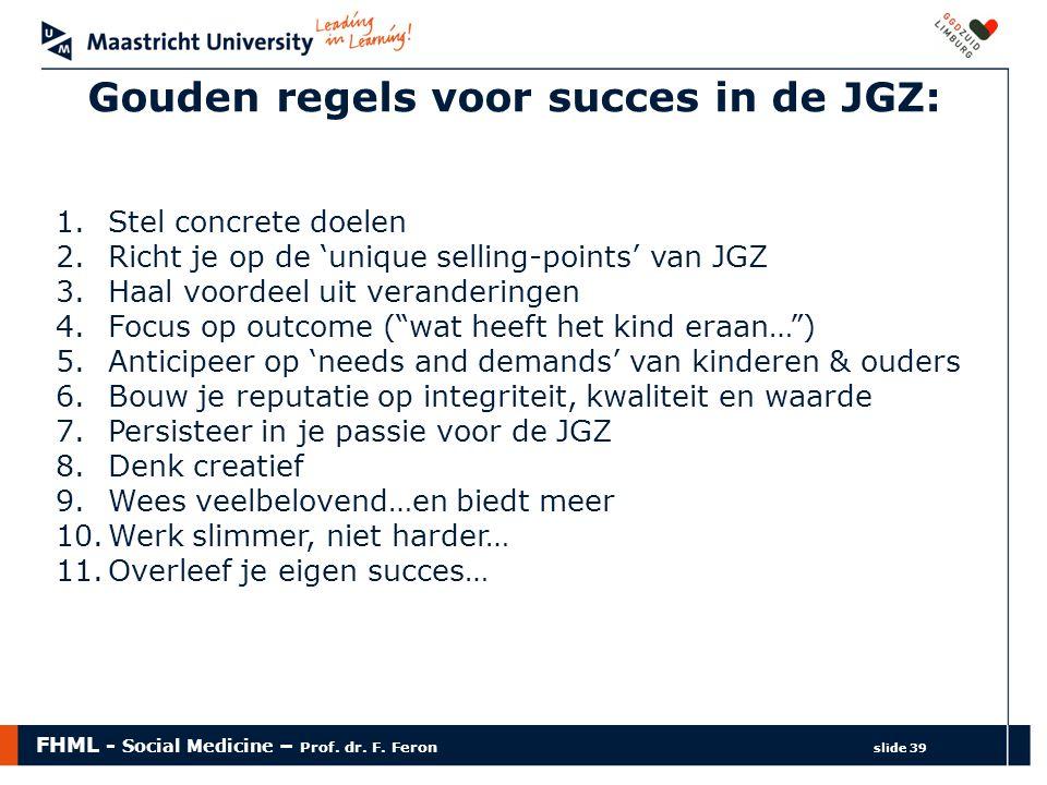 Gouden regels voor succes in de JGZ: