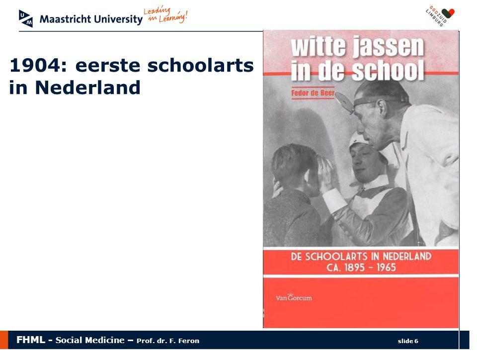 1904: eerste schoolarts in Nederland