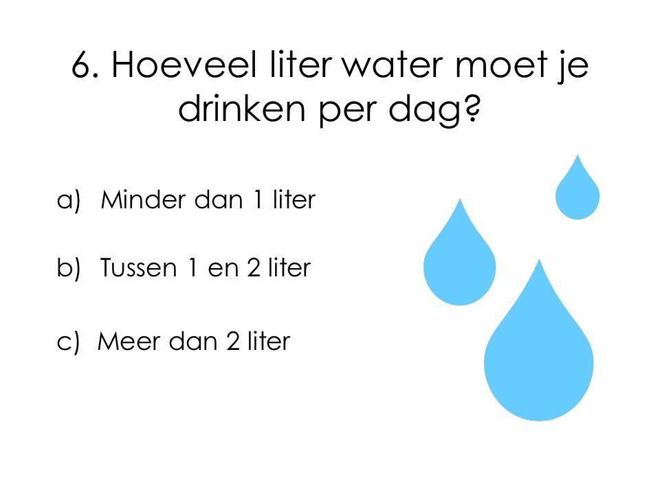 6. Hoeveel liter water moet je drinken per dag
