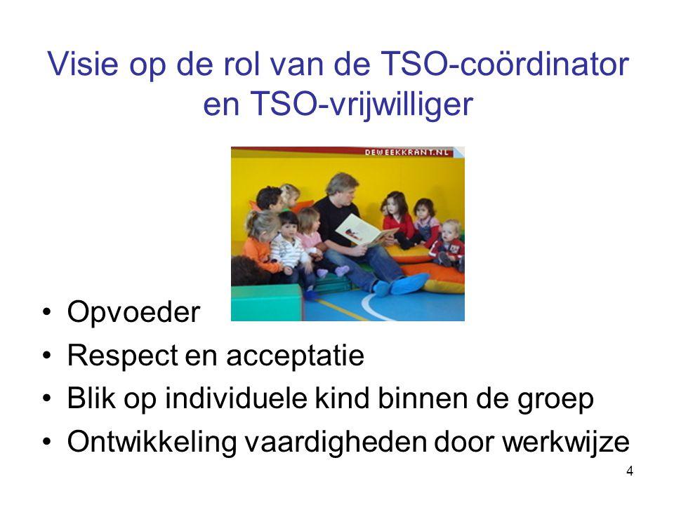 Visie op de rol van de TSO-coördinator en TSO-vrijwilliger