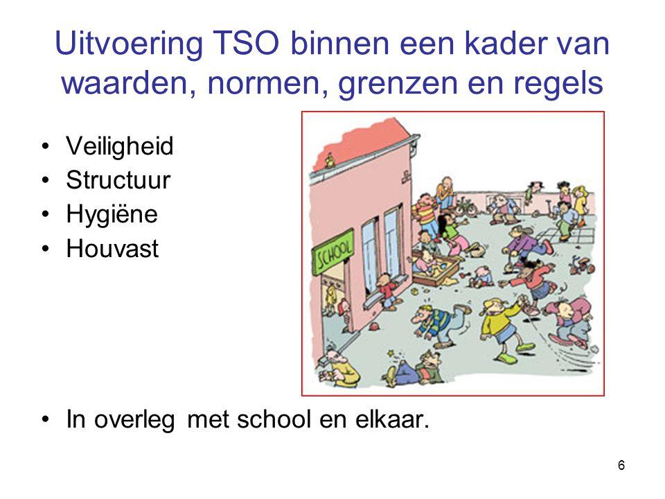 Uitvoering TSO binnen een kader van waarden, normen, grenzen en regels
