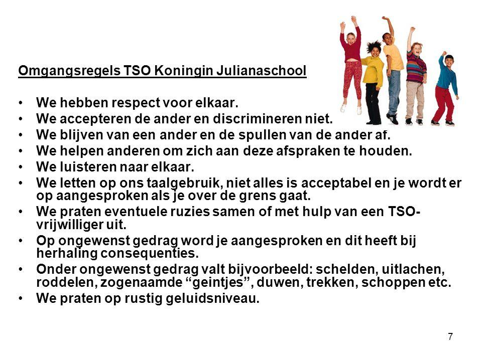 Omgangsregels TSO Koningin Julianaschool