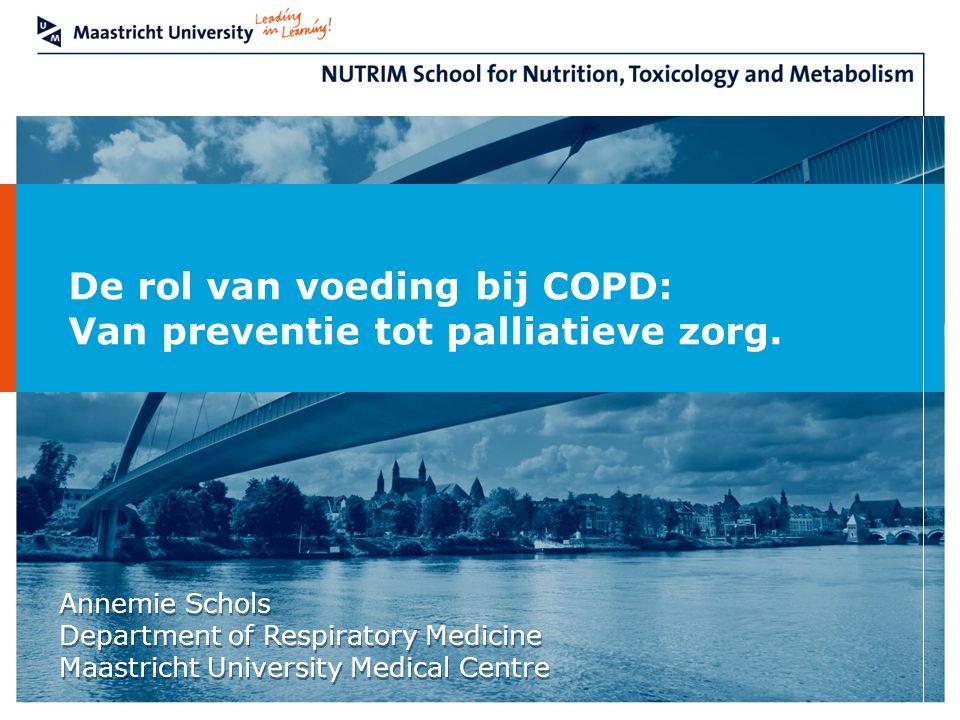 De rol van voeding bij COPD: Van preventie tot palliatieve zorg.