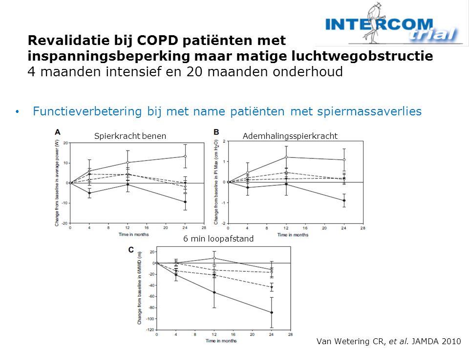 Revalidatie bij COPD patiënten met inspanningsbeperking maar matige luchtwegobstructie 4 maanden intensief en 20 maanden onderhoud