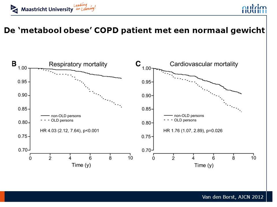 De 'metabool obese' COPD patient met een normaal gewicht