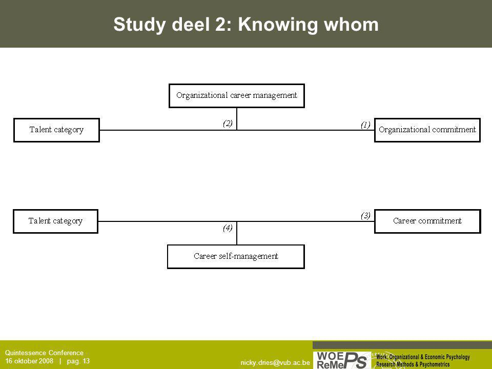 Study deel 2: Knowing whom