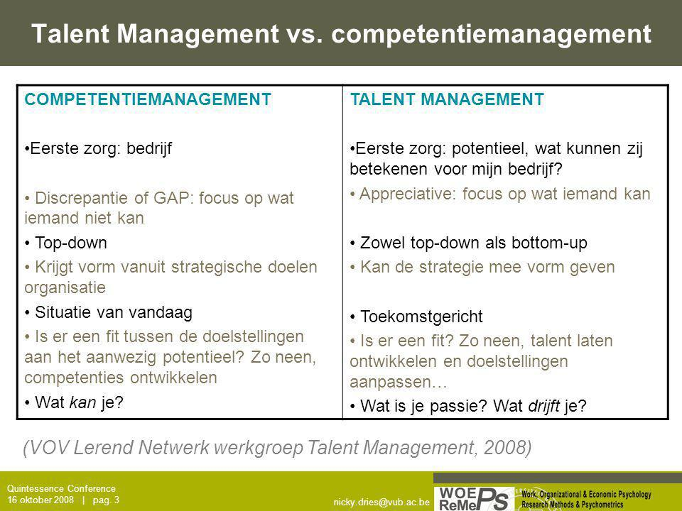 Talent Management vs. competentiemanagement