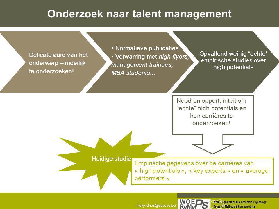 Onderzoek naar talent management