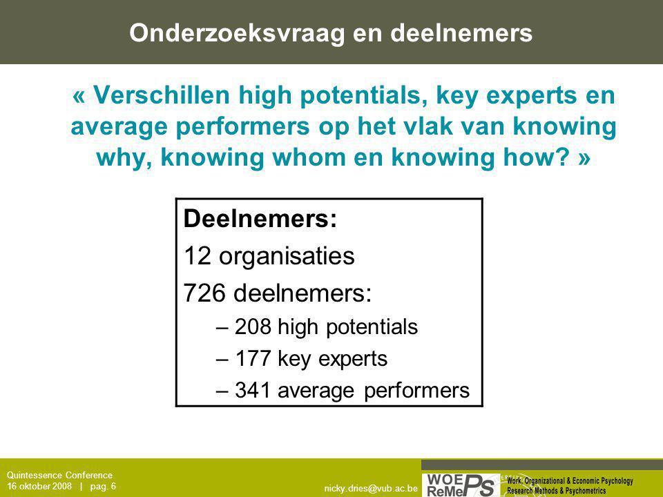 Onderzoeksvraag en deelnemers