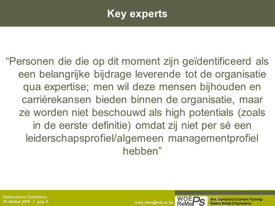 Key experts