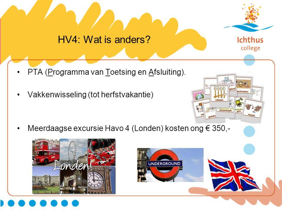 HV4: Wat is anders PTA (Programma van Toetsing en Afsluiting).