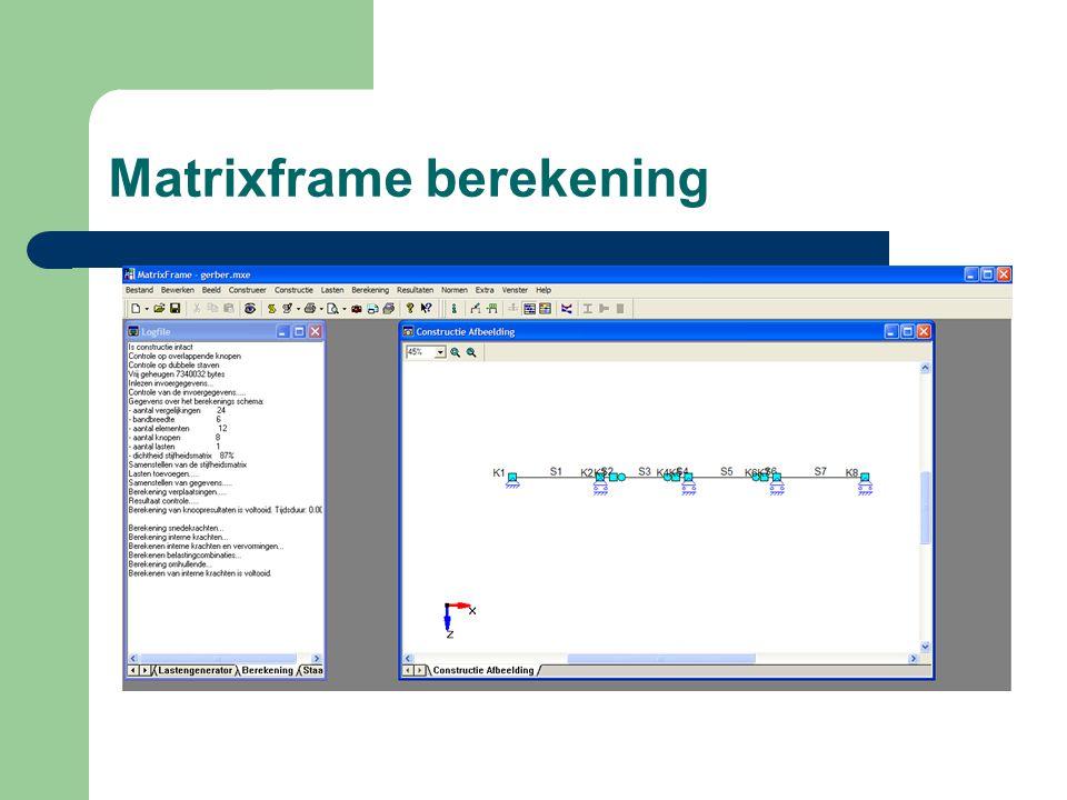 Matrixframe berekening