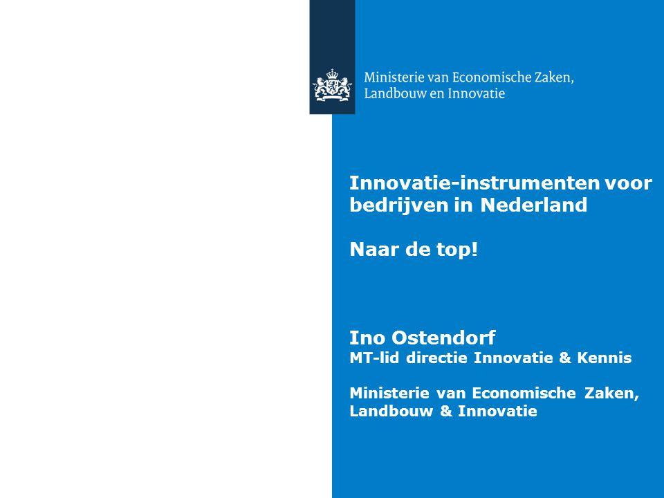 Innovatie-instrumenten voor bedrijven in Nederland Naar de top